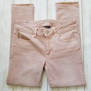 American Eagle Dusty Pink Raw Hem Jegging Crop